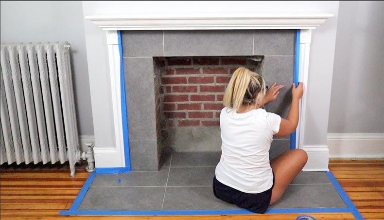 Tile Stencils For Fireplace Tiles Stencil Stories