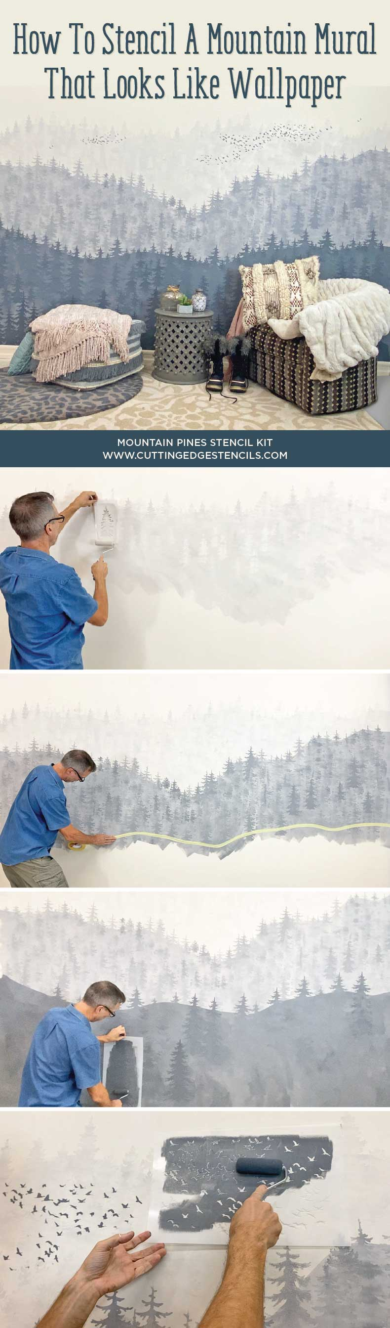 mural made with wall stencils