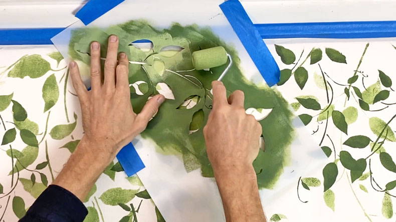painting vine wall stencil kit
