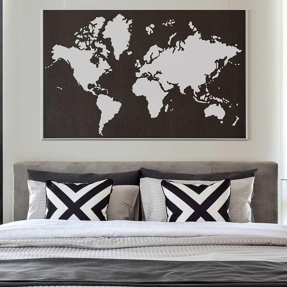 World Map Wall Art Stencil
