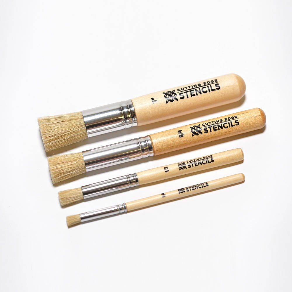 4 pc. Professional Stencil Brush Kit