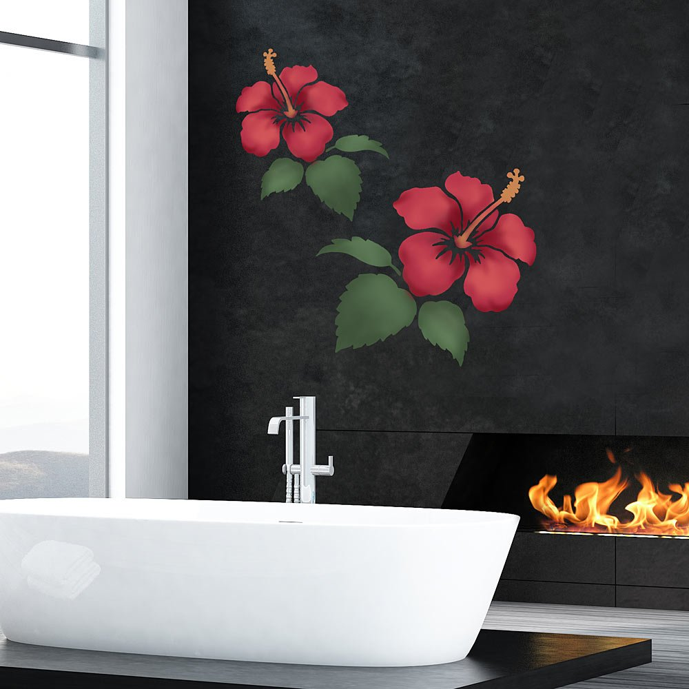 Hibiscus Flower Stencil Floral Stencil Designs Flower Stencils For Wall And Furniture Painting