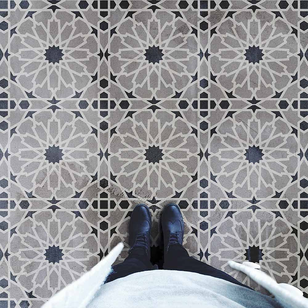 Moroccan Tile Stencil for DIY floor tiles, stenciled backsplashes and walls