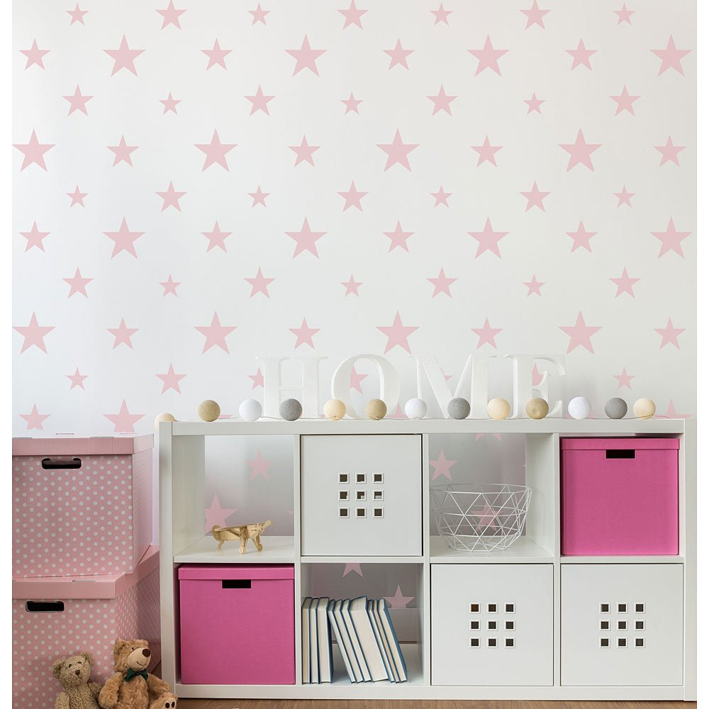 Stars Wall Stencil Nursery Wall Art Modern Star Wallpaper Decal Stencils for Painting Kids Room Boys Room