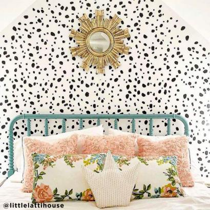 Dalmatian Spots Wall Stencil