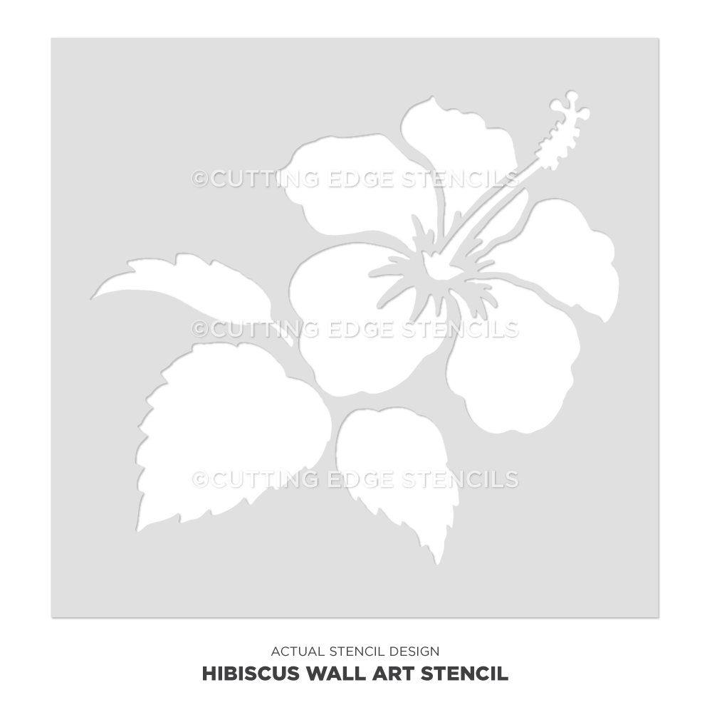 Hibiscus tropical flower crown face painting stencil