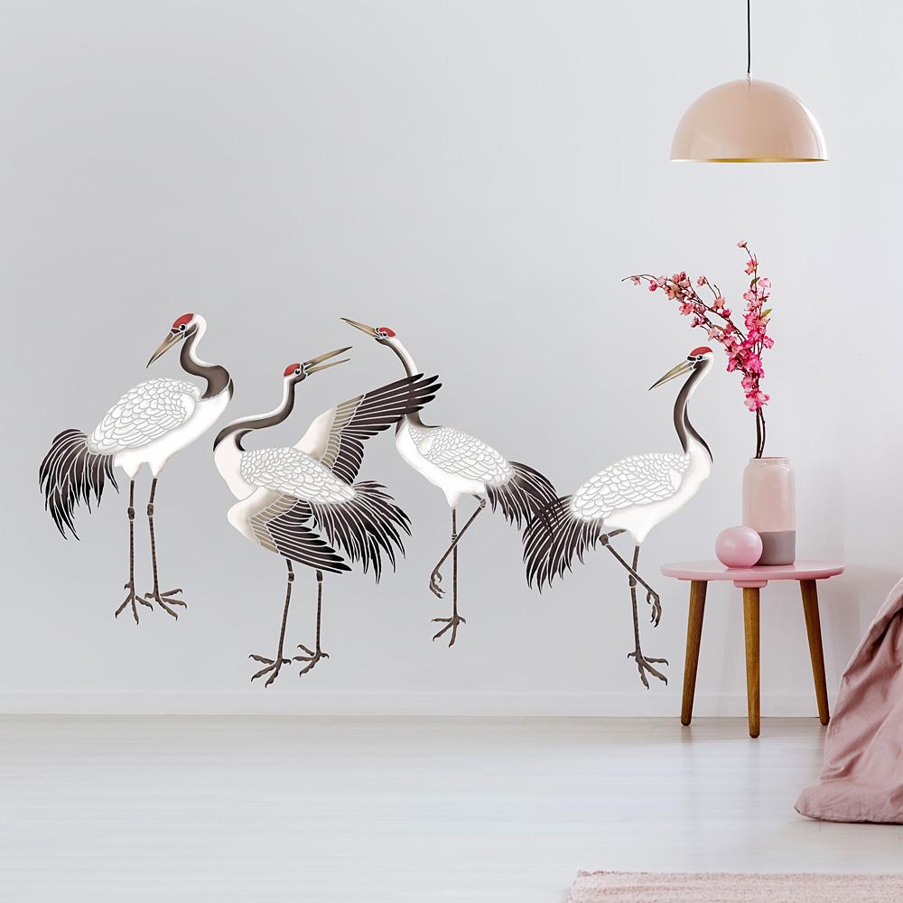 Large Crane Stencil For Walls Crane Wallpaper Stencils For Lux Interior