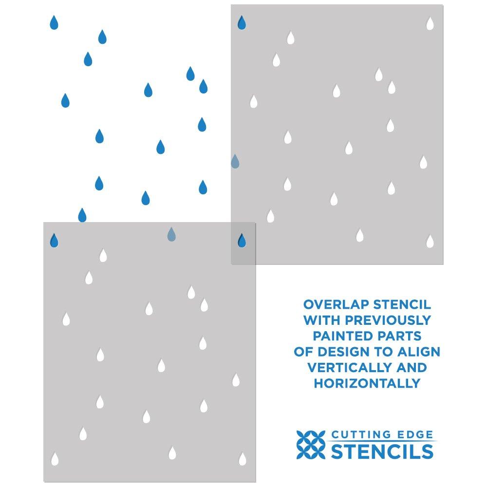 Raindrops Reusable Plastic Stencil