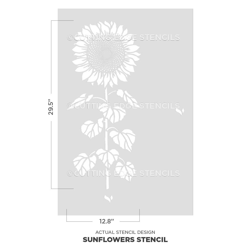 Stencil Flower Durable Sunflower Reusable *