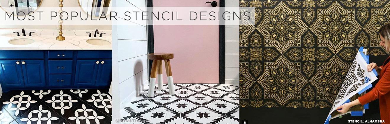 cement tile stencils wall stencil patterns