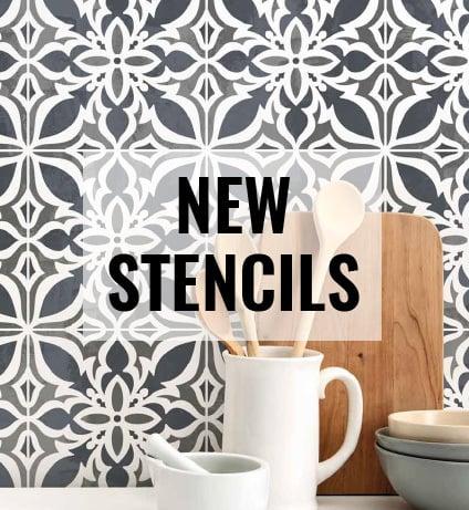 Tile Stencils for Painting Kitchen Backsplash Stenciling